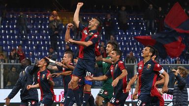 Genoa celebrate claiming victory