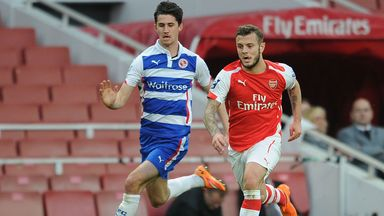 Jack Wilshere battles with Reading