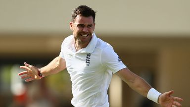 James Anderson celebrates in Antigua