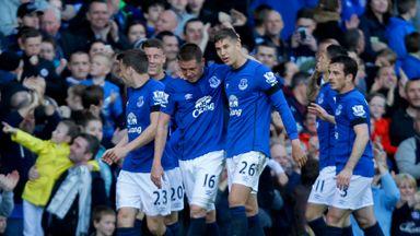 Kevin Mirallas: Everton celebrate their third goal