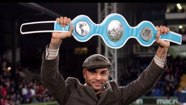 Leon McKenzie: Parades title belt at Selhurst Park