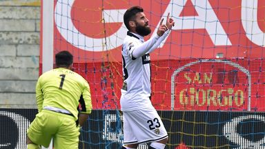 Antonio Nocerino celebrates after scoring from the penalty spot