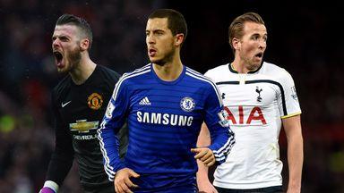 David De Gea, Eden Hazard & Harry Kane: All named in PFA team