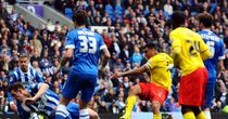 Troy Deeney scores at Brighton to help seal Watford's promotion