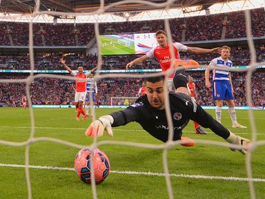 Adam Federici couldn't keep out Sanchez's tame effort