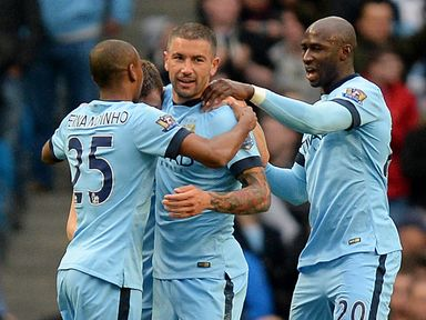Eliaquim Mangala (right): Feels he's got to grips with Premier League