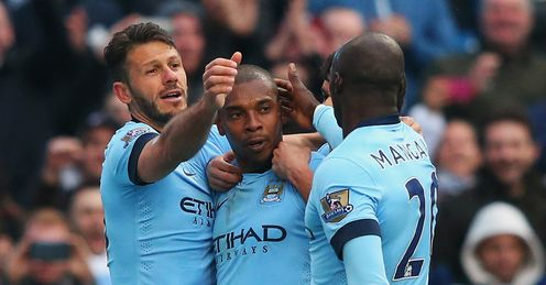 Fernandinho 's late goal handed City a dramatic victory