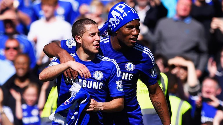 Hazard has a close relationship with former team-mate Didier Drogba