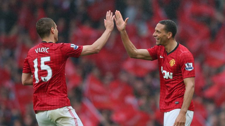 Vidic formed a formidable centre-back partnership with Rio Ferdinand