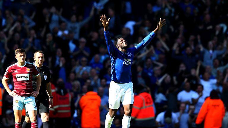 Romelu Lukaku: Celebrates his stoppage-time winner