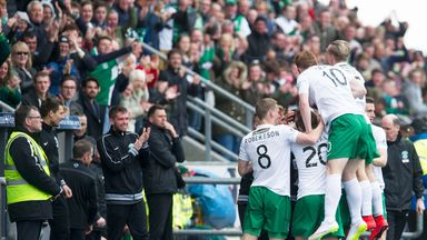 Hibernian celebrate after Martin Boyle's opener