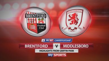 Brentford 1-2 Middlesbrough