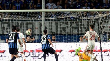 Giacomo Bonaventura (28) fires home his second goal of the game