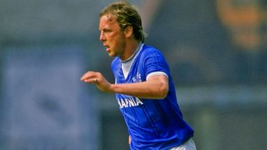 Andy King: In action for Everton on New Year's Day, 1984