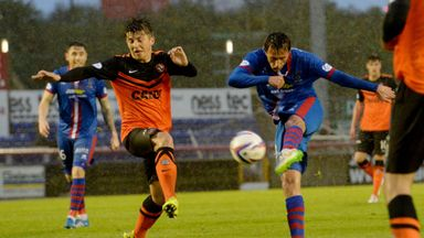 Danny Williams volleys in Inverness