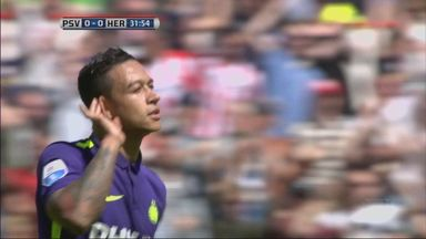Depay scored a stunning free kick for PSV