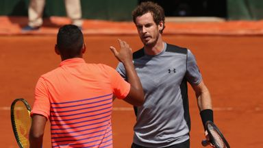 Andy Murray: The Briton bashed Nick Kyrgios at Roland Garros