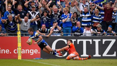 George Ford crosses the line for Bath in their Premiership semi-final win