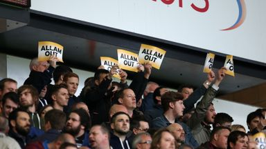 Some Hull supporters protested against owner Assem Allam during defeat to Arsenal