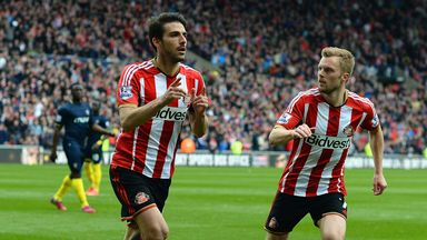 Jordi Gomez: Celebrates after tucking away his second penalty