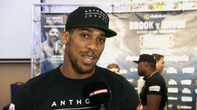 Anthony Joshua believes Amir Khan can turn his attention to Kell Brook