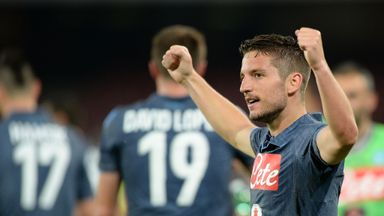 Dries Mertens was on the target for Napoli