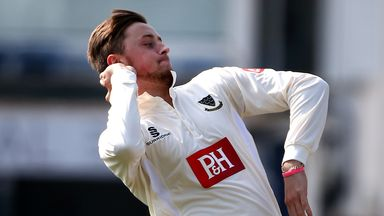 Oliver Robinson took six wickets for Sussex on day one of their clash with Warwickshire