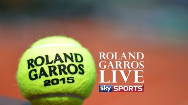 An official tennis ball of the 2013 French Open is pictured on a court at the Roland Garros stadium in Paris