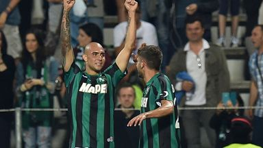 Simone Zaza (L) scored 11 goals for Sassuolo last term