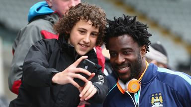 Wilfried Bony (right) is optimistic for the new season
