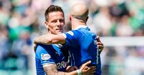 Ian Black and Nicky Law: Celebrate after Rangers progress