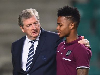 Roy Hodgson: Wants Raheem Sterling (r) in the right frame of mind