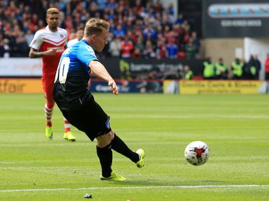 Bournemouth's Matt Ritchie scores his sides first goal of the game against Charlton