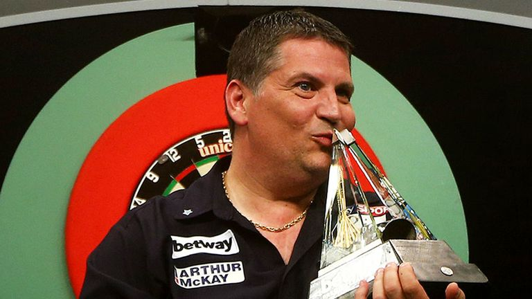 Gary Anderson starts the defence of his title next week