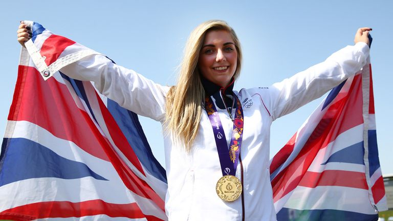 Amber Hill won gold at the inaugural European Games in Baku in 2015