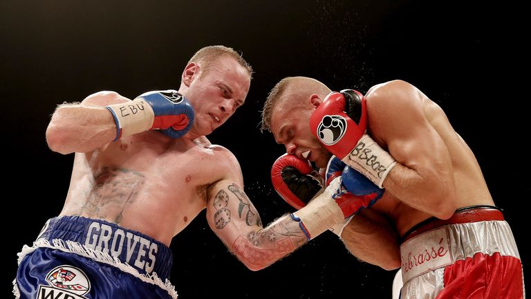 Geroge Groves (left) will train alongside Golovkin