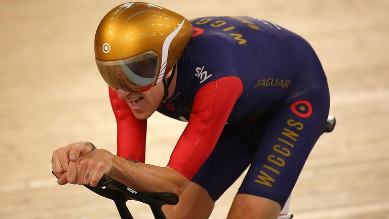 Wiggins broke the UCI Hour Record in June 2015