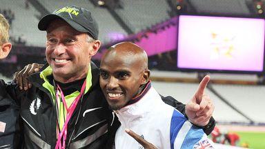 Mo Farah (right) supported his coach Alberto Salazar through a previous doping controversy back in 2015