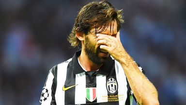 Andrea Pirlo: Juventus midfielder was upset after the loss to Barcelona
