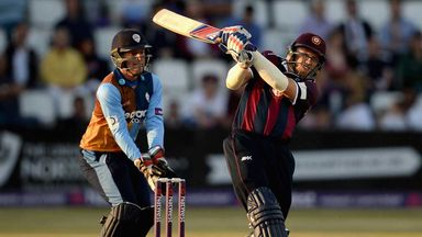 David Willey in swashbuckling form for the Northants Steelbacks