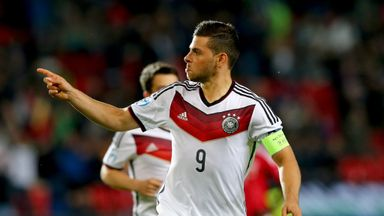 Kevin Volland of Germany celebrates after scoring the second goal