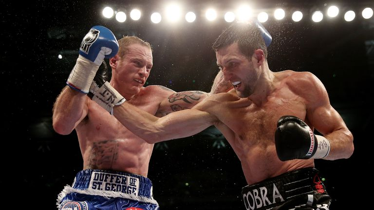 Groves (left) is better after fighting Froch, says Sanchez