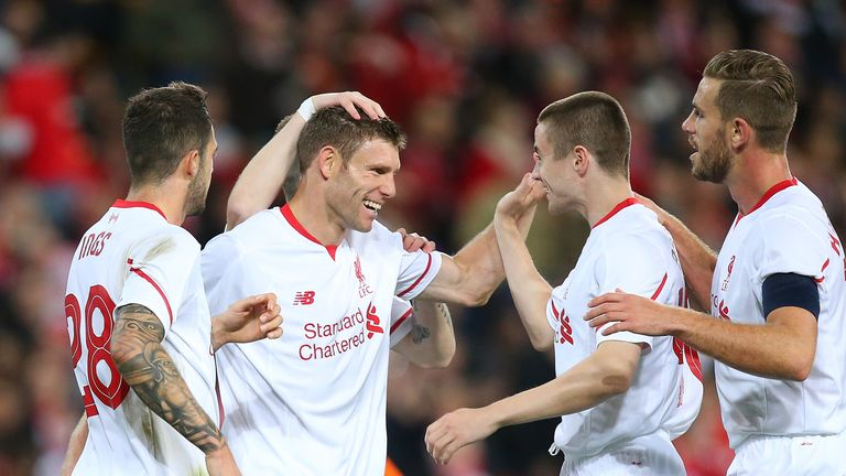 James Milner could partner Jordan Henderson in midfield