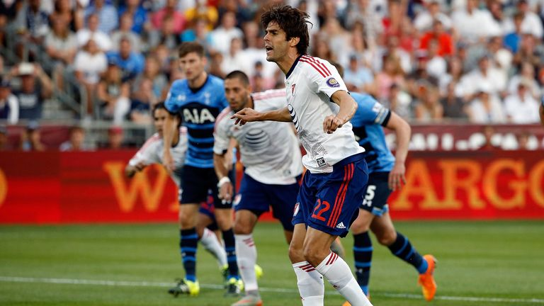 Kaka scored from the penalty spot to give MLS All-Stars the lead