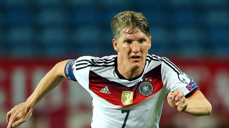 Bastian Schweinsteiger could not make it through the warm up before Germany's game