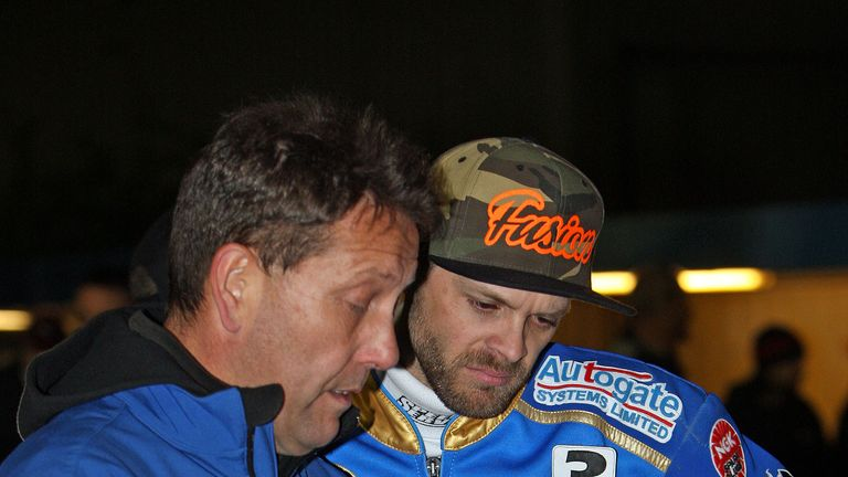 Schlein is still seen in the pits and is looking to help out the club off the track