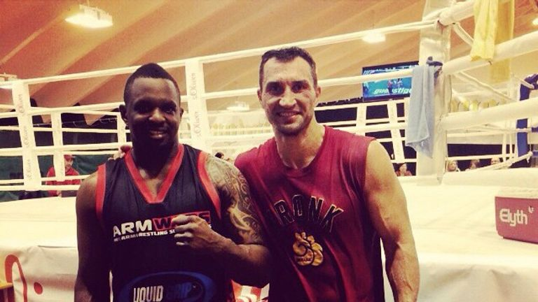 Whyte trains in Austria with Klitschko