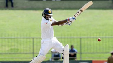 Angelo Mathews scored a half-century as Sri Lanka took charge in Kandy