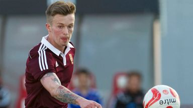 Gary Oliver: Scored opening goal for Hearts against Shelbourne