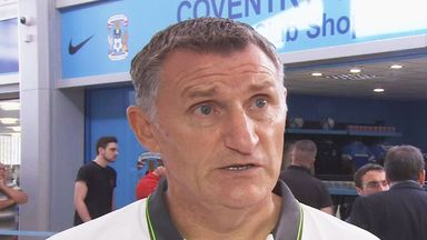 Tony Mowbray, speaking outside Coventry's club shop as fans queue to buy the new kit ahead of next season.